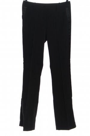 Stile Benetton Stoffhose schwarz Business-Look