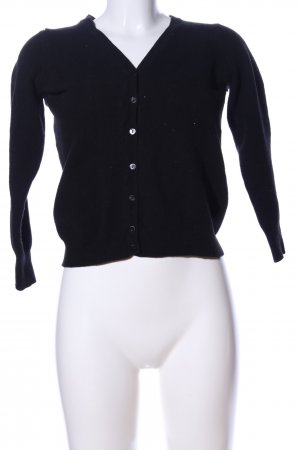 Stile Benetton Strick Cardigan schwarz Business-Look