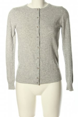 Stile Benetton Strickjacke hellgrau meliert Casual-Look