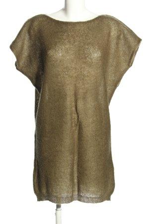 Stile Benetton Strickkleid bronzefarben Casual-Look