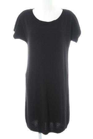 Stile Benetton Strickkleid schwarz schlichter Stil