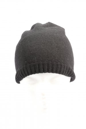 Stile Benetton Knitted Hat black flecked casual look