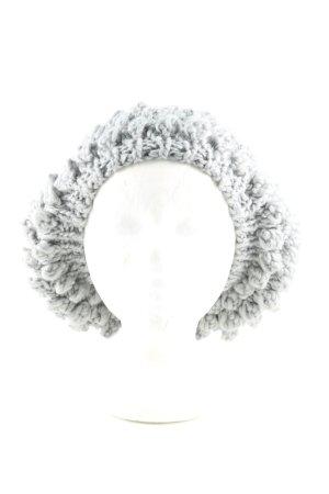 Stile Benetton Cappello a maglia grigio chiaro punto treccia stile casual