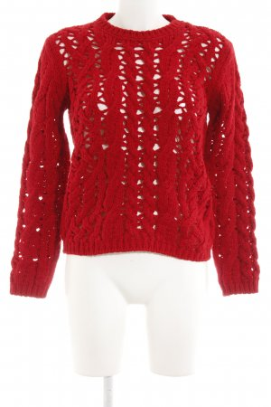 Stile Benetton Strickpullover rot Casual-Look