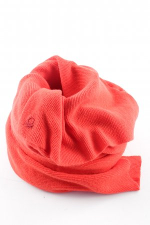 Stile Benetton Strickschal rot Business-Look