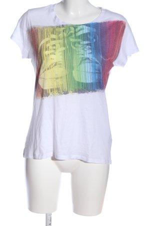 Stile Benetton T-Shirt Motivdruck Casual-Look