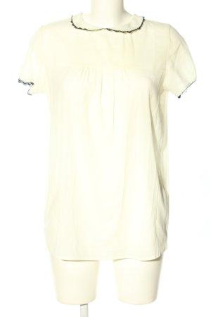 Stile Benetton Transparenz-Bluse wollweiß-schwarz Elegant