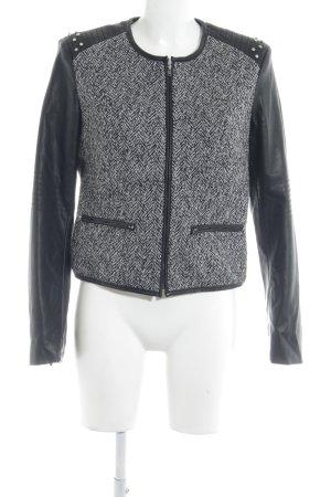 Stile Benetton Übergangsjacke schwarz-hellgrau Casual-Look