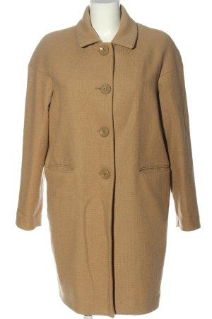 Stile Benetton Wollen jas nude volledige print casual uitstraling