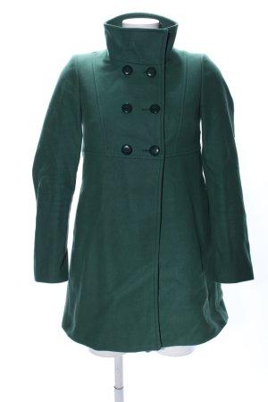 Stile Benetton Wollmantel grün Casual-Look