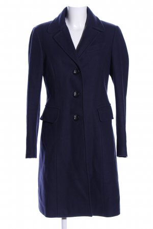 Stile Benetton Wollmantel blau Business-Look