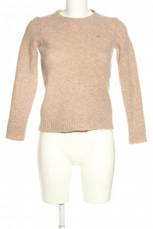 Stile Benetton Wollpullover creme meliert Casual-Look