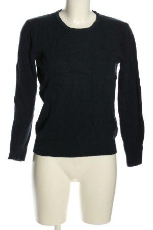 Stile Benetton Wollpullover schwarz Casual-Look