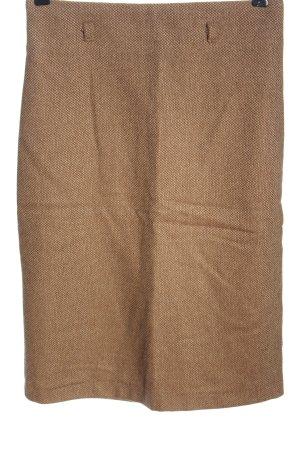 Stile Benetton Falda de lana marrón look casual