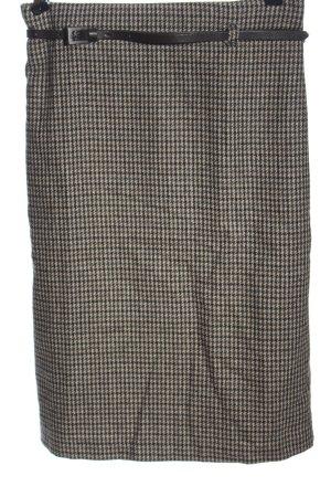 Stile Benetton Falda de lana negro-marrón look casual