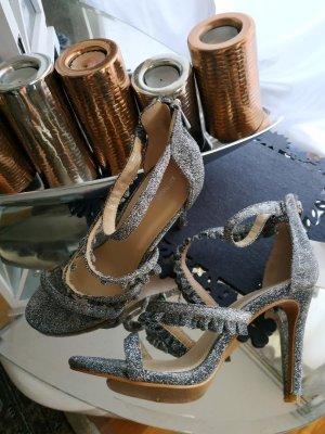 Stilettoes in Silber mit Reißverschluss NEU und ungetragen PIMKIE