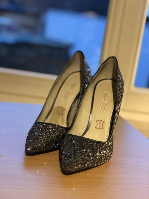 Buffalo London Pointed Toe Pumps anthracite-silver-colored