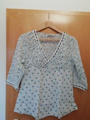 Basic Line Shirt Tunic white-blue