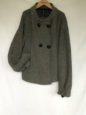 Bruno Manetti Blouson black-silver-colored wool