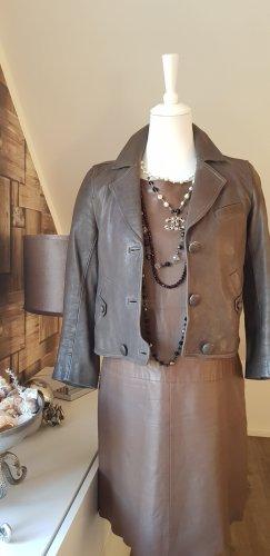 3.1 Phillip Lim Veste en cuir gris brun cuir
