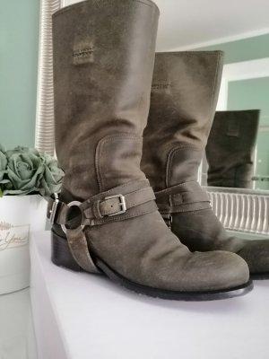 Dior Bottes à tige large kaki cuir