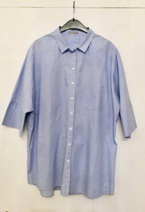 Erfo Chemise à manches courtes blanc-bleuet coton