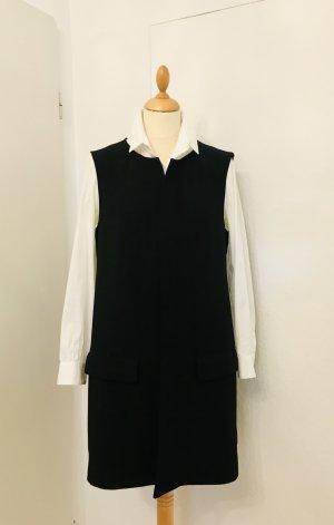 Zara Woman Długi sweter bez rękawów czarny