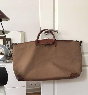 Longchamp Sac weekender cognac-brun
