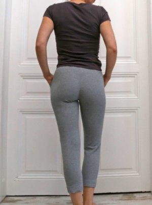 Max Mara Pantalone a 3/4 grigio scuro-argento Cotone