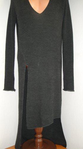 Zara Accesoires Vestido de lana gris-gris oscuro