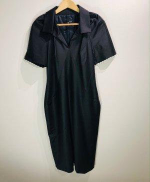 Stilvolles Etuikleid, nachtblau changierend, 88%Wolle