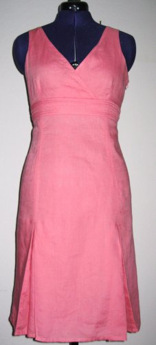 Adolfo Dominguez Empire Dress pink linen