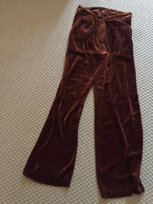 Stine Goya Pantalon taille haute cognac-bronze