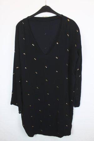 Stine Goya Kleid Blusenkleid Gr. S dunkelblau gold