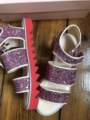 Stine Goya Sandals Sandalen in Pink mit Glitzer Größe 40 Riemchensandalen