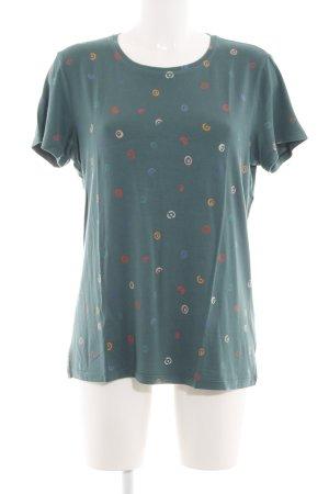 Stine Goya T-Shirt khaki Allover-Druck Casual-Look