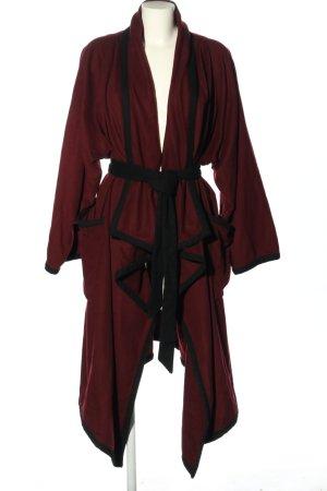 Stine Goya Cappotto in lana rosso-nero stile casual