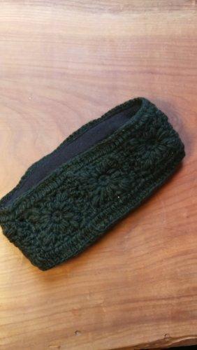 Knitted Hat black-dark green