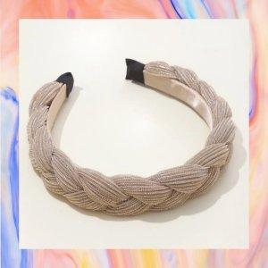 Stirnband aus Samt geflochten