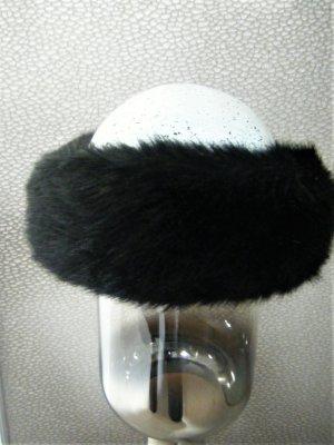 Stirnband aus Webpelz - schwarz - NEU
