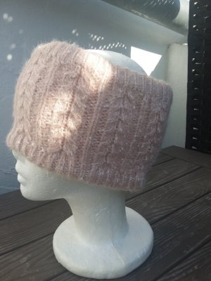 Bonnet vieux rose-blanc