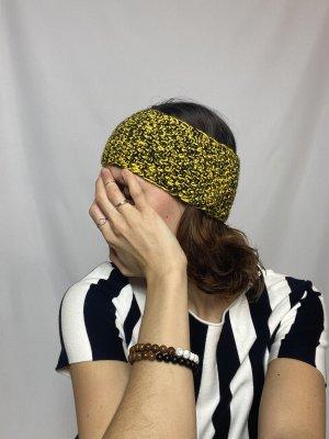 Stirnband gelb schwarz