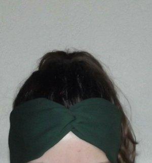 Handmade Wstążka do włosów ciemnozielony-leśna zieleń