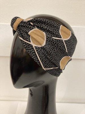 Cappello in tessuto nero-oro