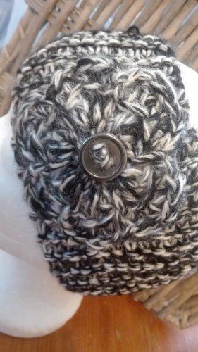 Handarbeit Sombrero de punto negro-gris