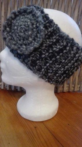 Handarbeit Chapeau en tricot gris anthracite