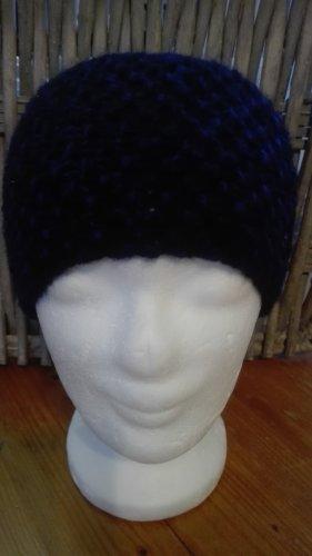 Handarbeit Sombrero de punto azul oscuro