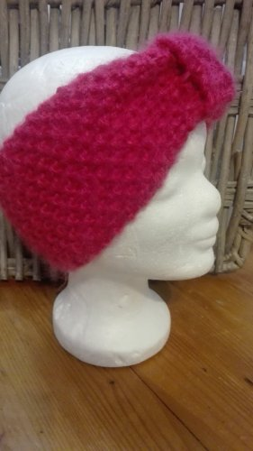 Handarbeit Sombrero de punto rosa