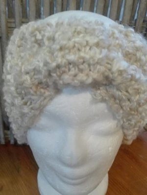 Handarbeit Sombrero de punto crema-beige claro