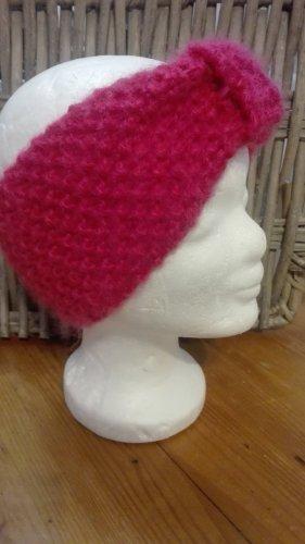 Handarbeit Knitted Hat pink